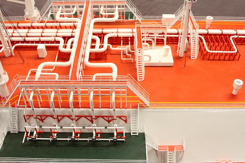 Orange Flooring with White Pipes