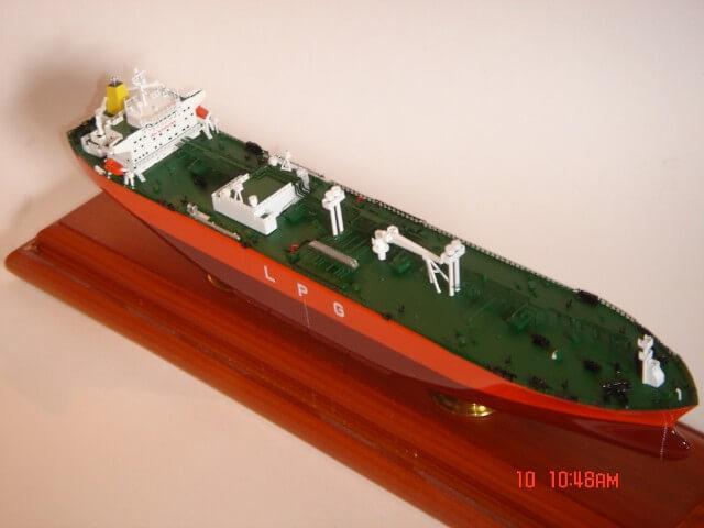 Green and Orange Tanker